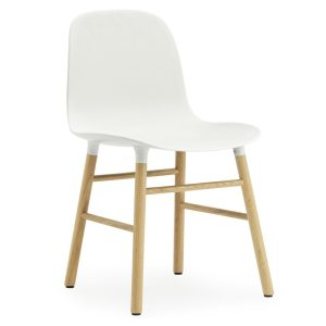 Form chair - oak - white