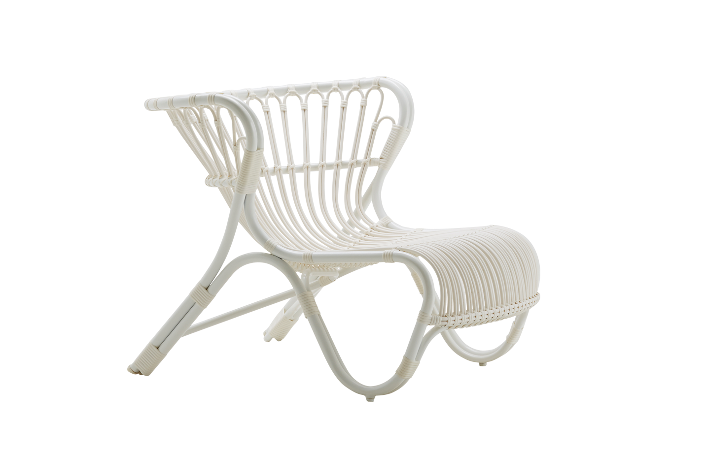 Fox chair – Lounge – Alu Rattan – Dove white