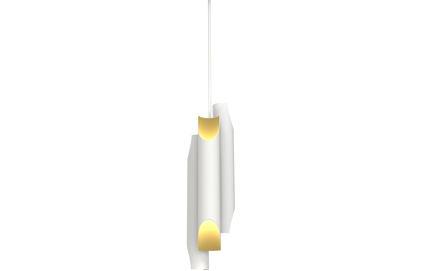 Galliano pendant lamp – White – gold
