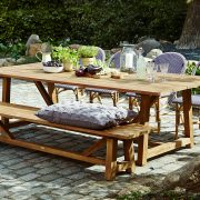 George Teak Table Lifestyle