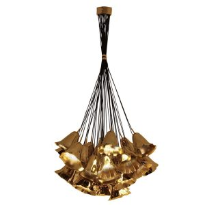 Gia chandelier light - Brass