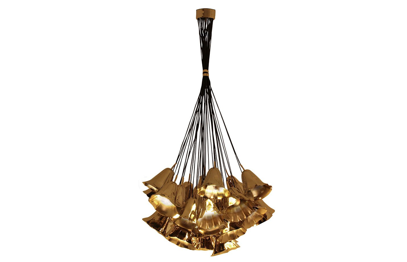 Gia chandelier light – Brass