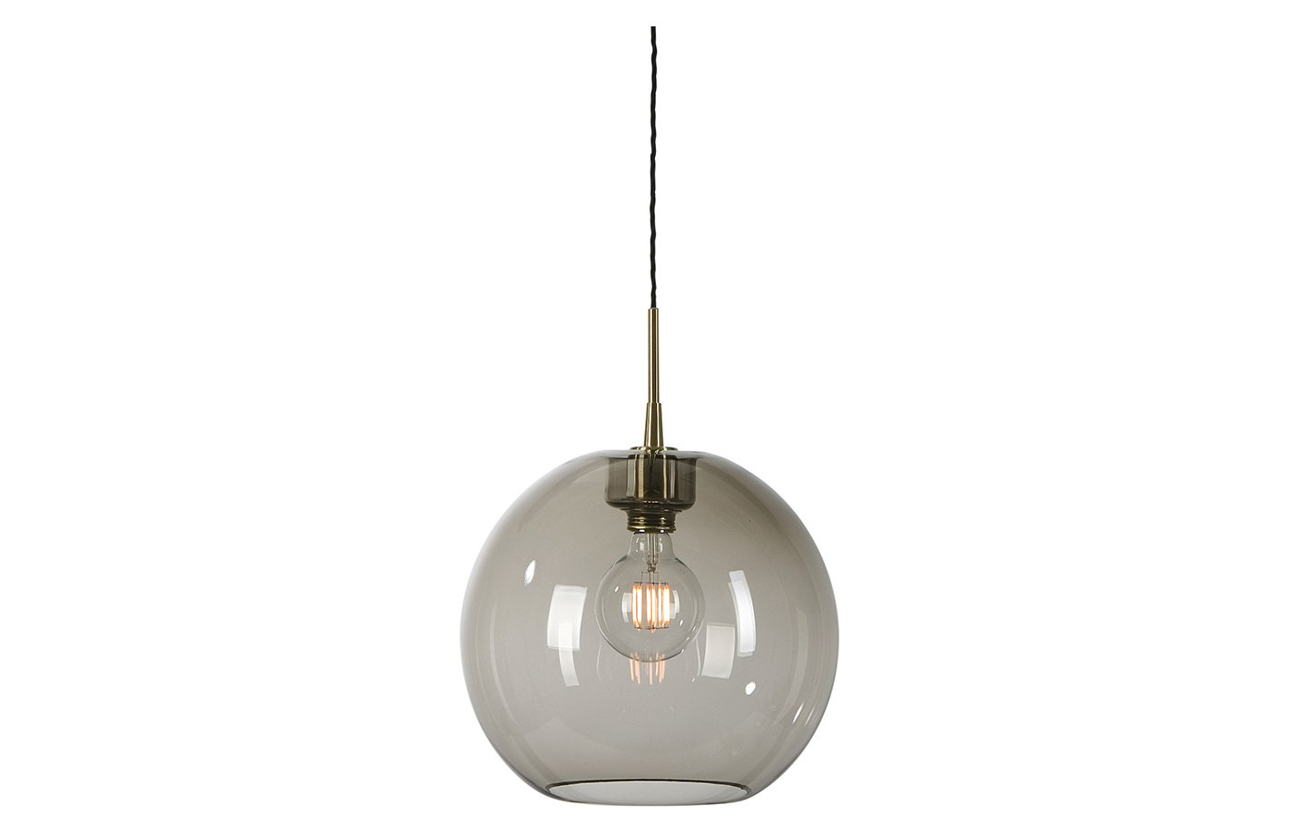 Gloria glass pendant lamp – small – smokey – grey