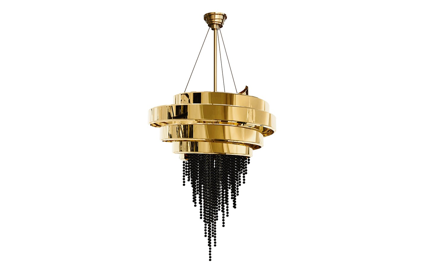 Guggenheim Chandelier Light – gold – black