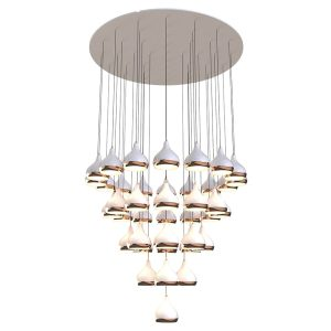 Hanna chandelier light - copper - white