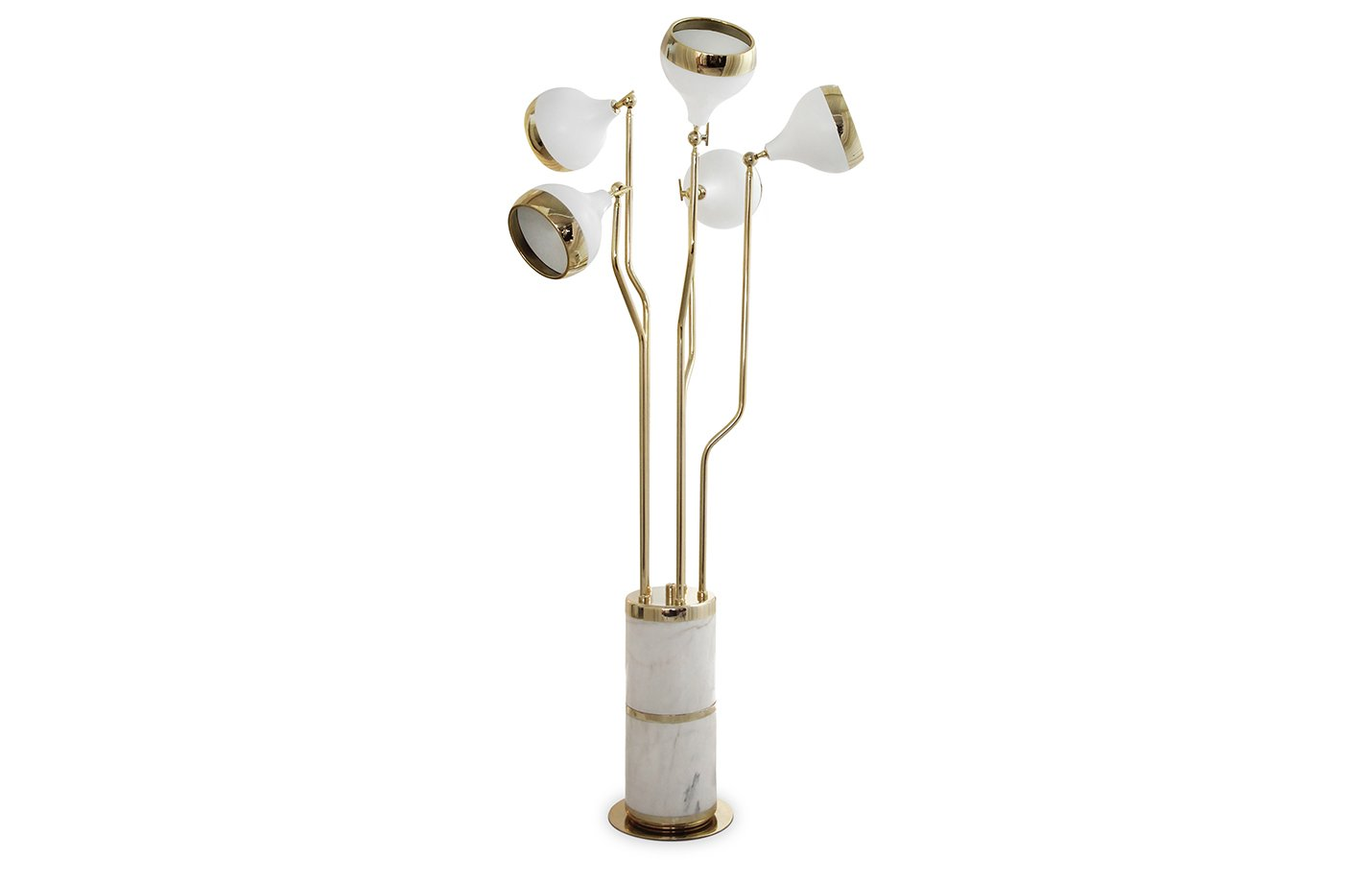 Hanna floor lamp – gold – white