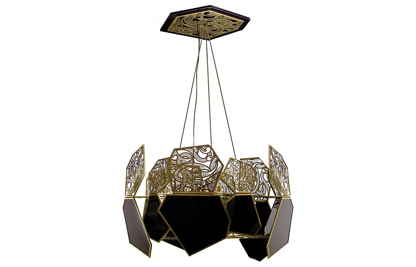 Hypnotic Chandelier Light – black