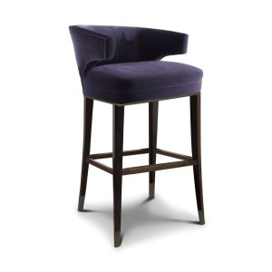 IBIS bar chair - velvet - Purple
