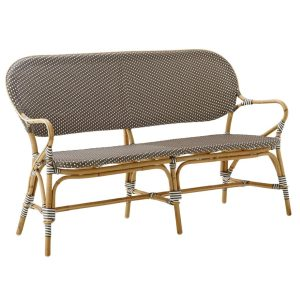 Isabell-bench-sofa-rattan-cappuccino-brown