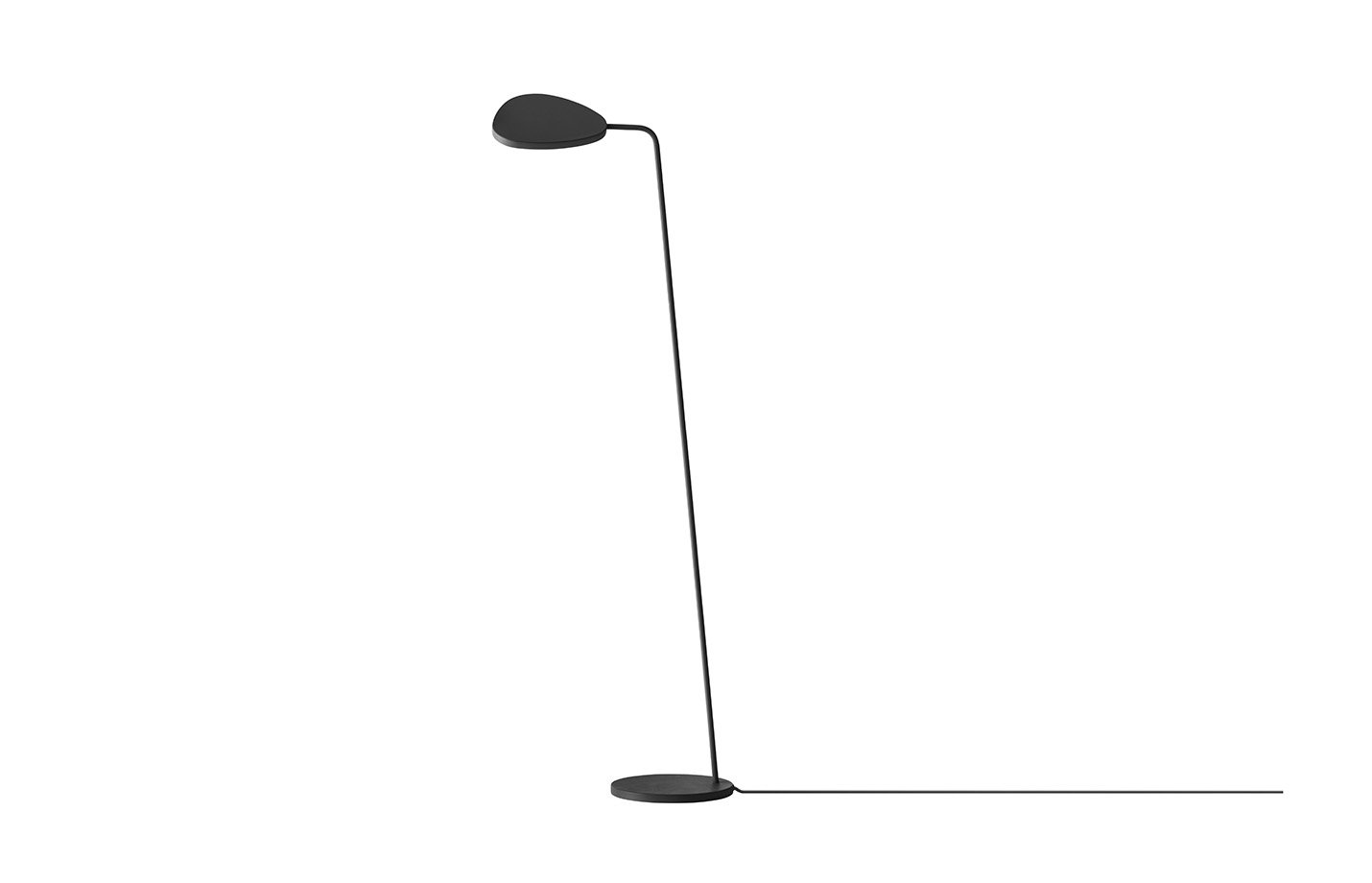 Leaf floor lamp – Black