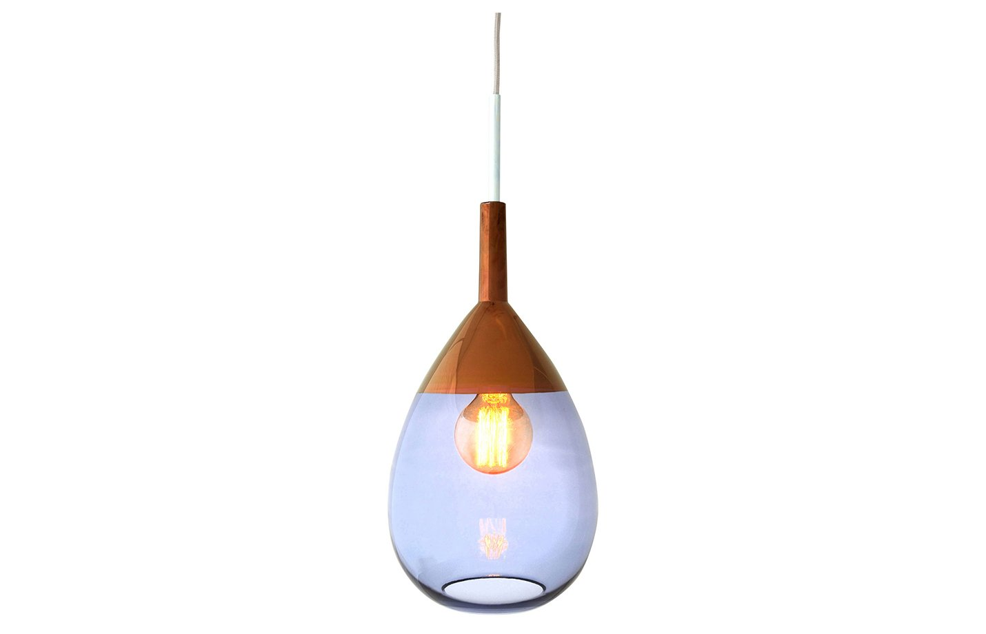 Lute pendant light blue – Copper