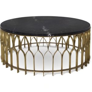 MECCA Centre table round - gold