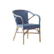 Madeleine-chair-armrest-Rattan-navy-blue-White