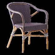 Madeleine-chair-armrest-Rattan-plum-White