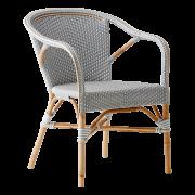Madeleine-chair-armrest-Rattan-white-Dark-grey