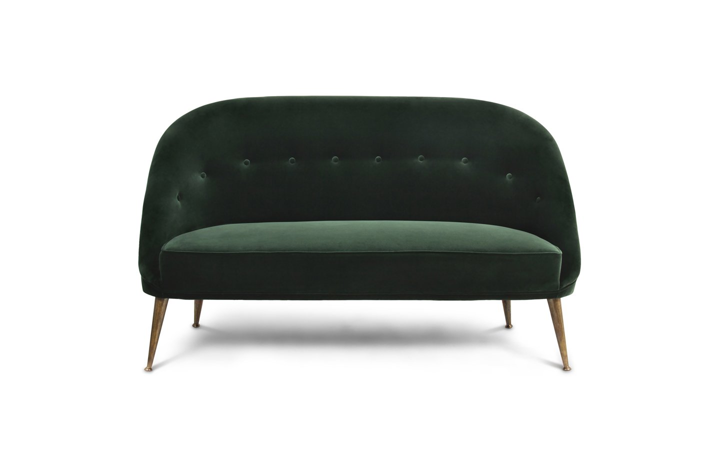 Malay sofa two seater – green