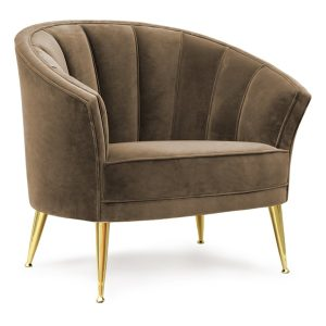 Maya armchair - brown