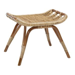 Monet footstool - Rattan - Antique