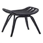 Monet-footstool-Rattan-Black