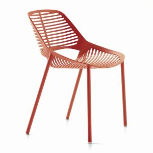 NIWA chair - coral - red