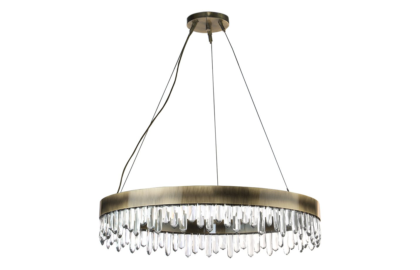 Naicca chandelier light crystal – Brass