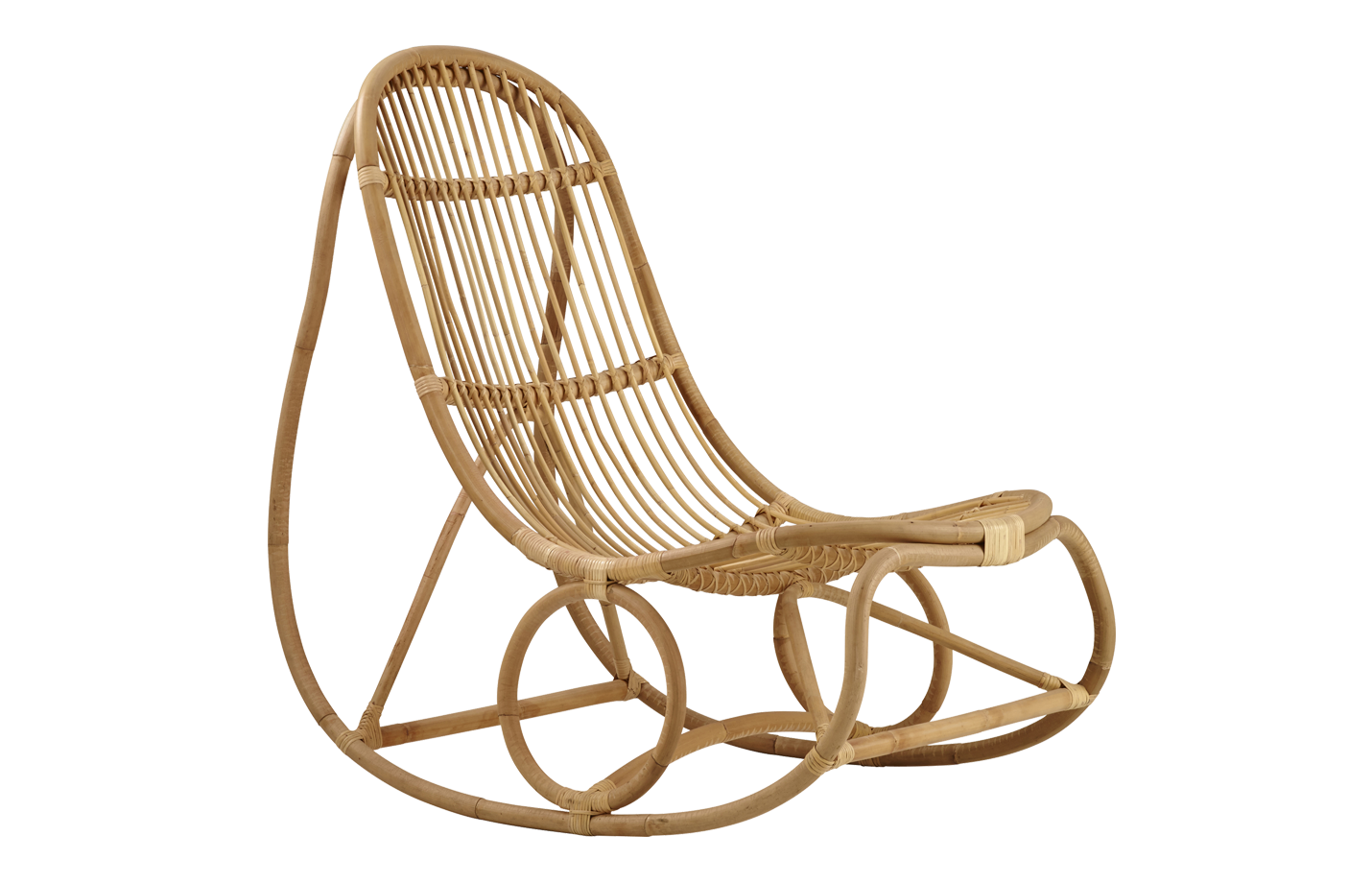 Nanny rocking chair – rattan – natural