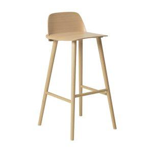 Nerd bar stool - high - Beech