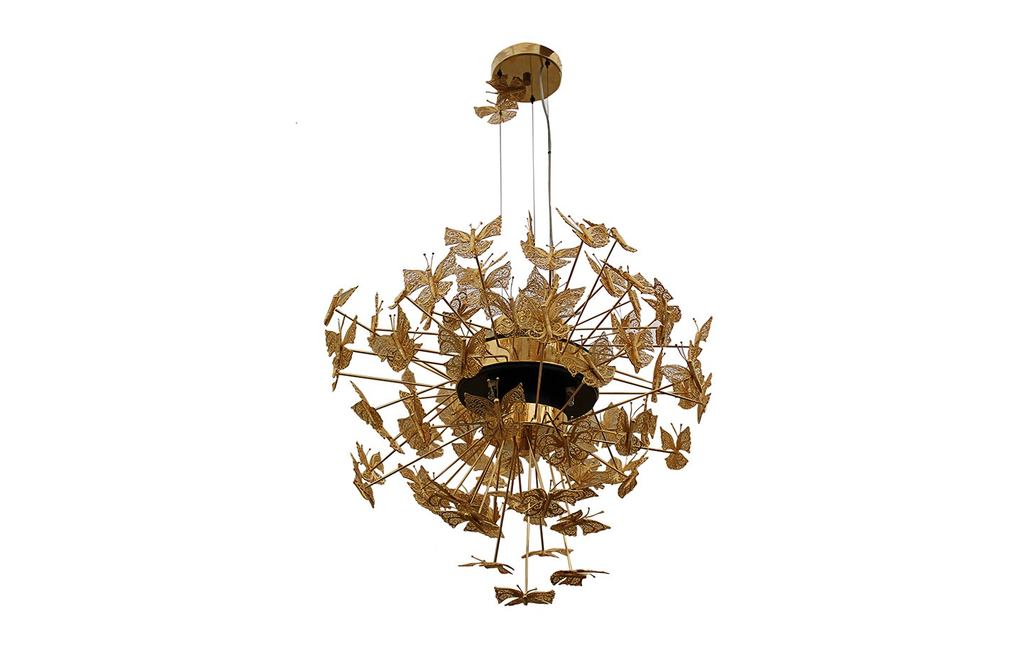 Nymph chandelier light – Gold