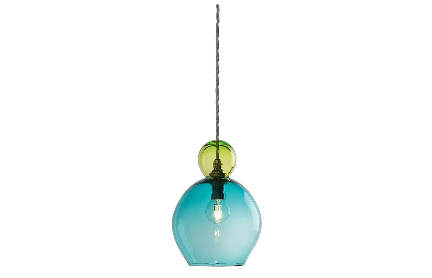 Oshka pendant lamp – small -blue-green