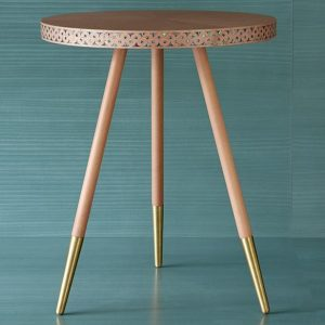 Paua Side Table - leather