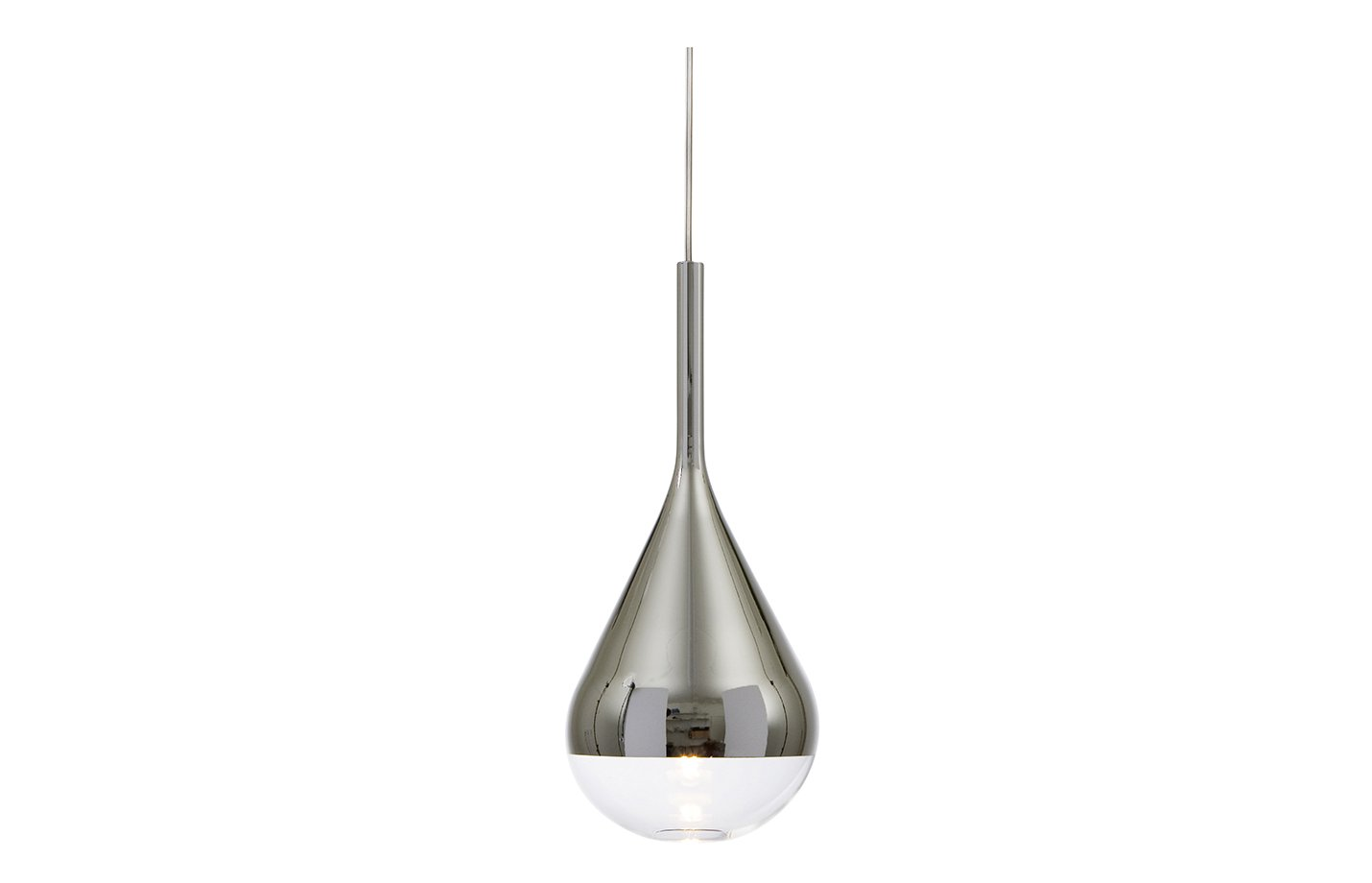 Pianto glaspendel pendant light – chrome