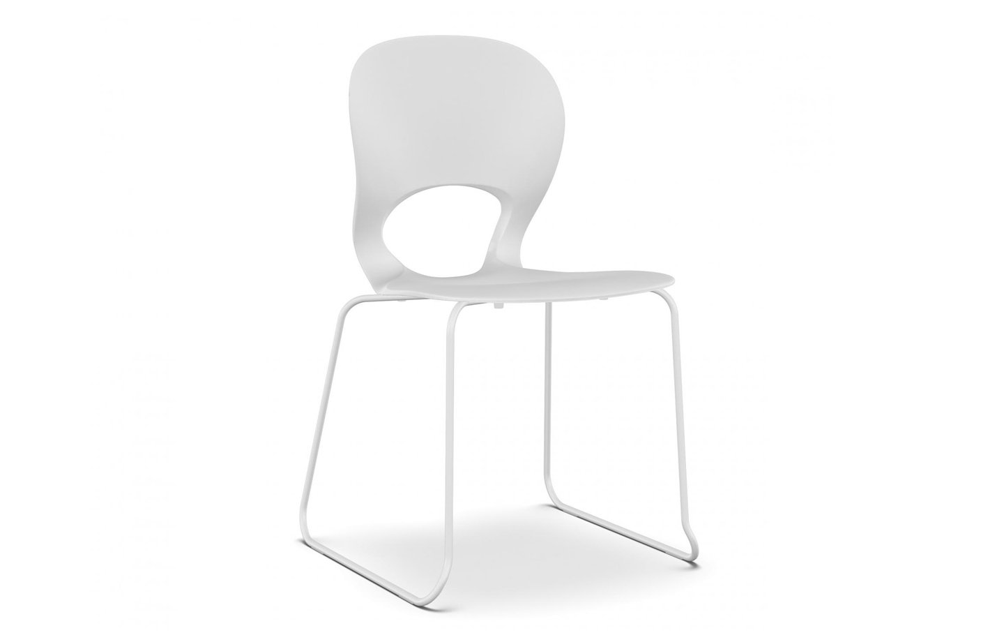 Pikaia four legs – chair seminar-white