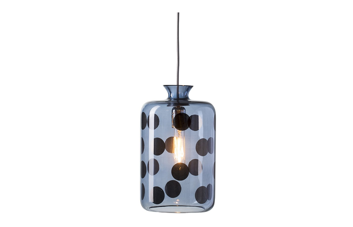 Pillar pendant dots lamp – Blue