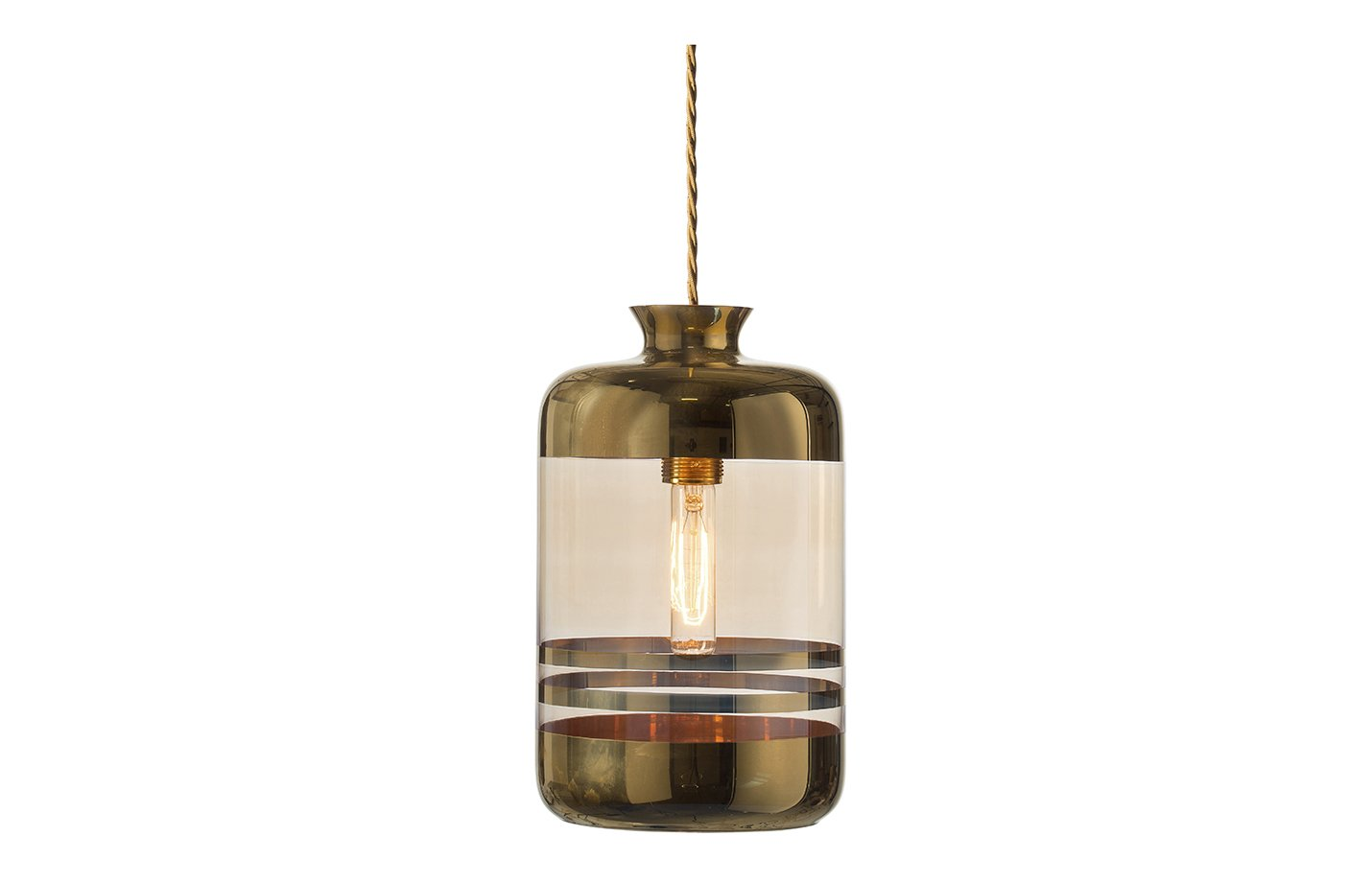 Pillar pendant stripes lamp – Gold