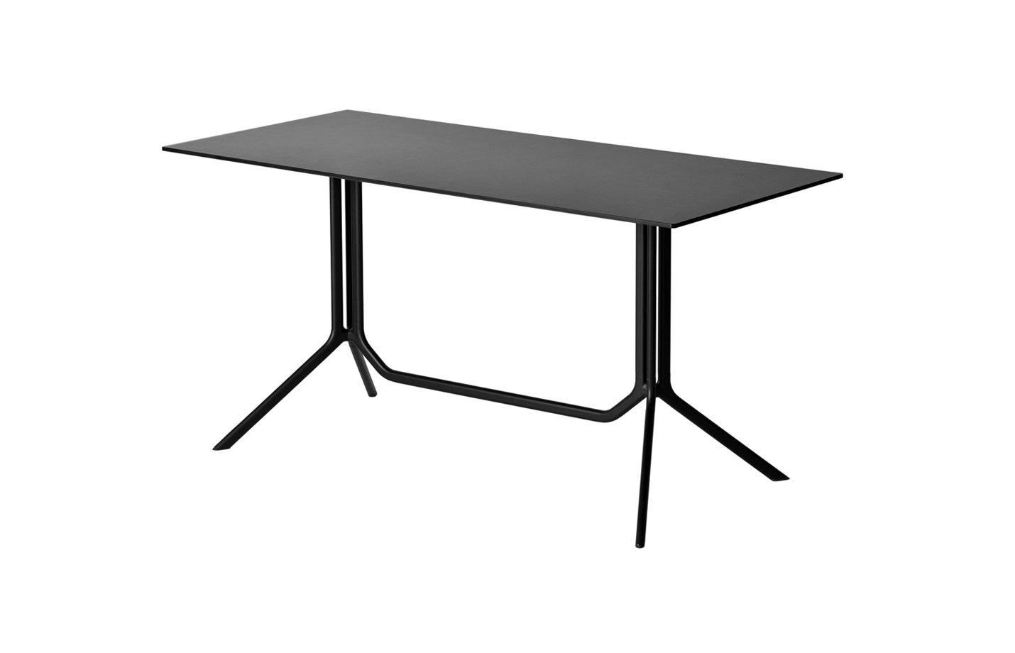 Poule table – rectangle – black