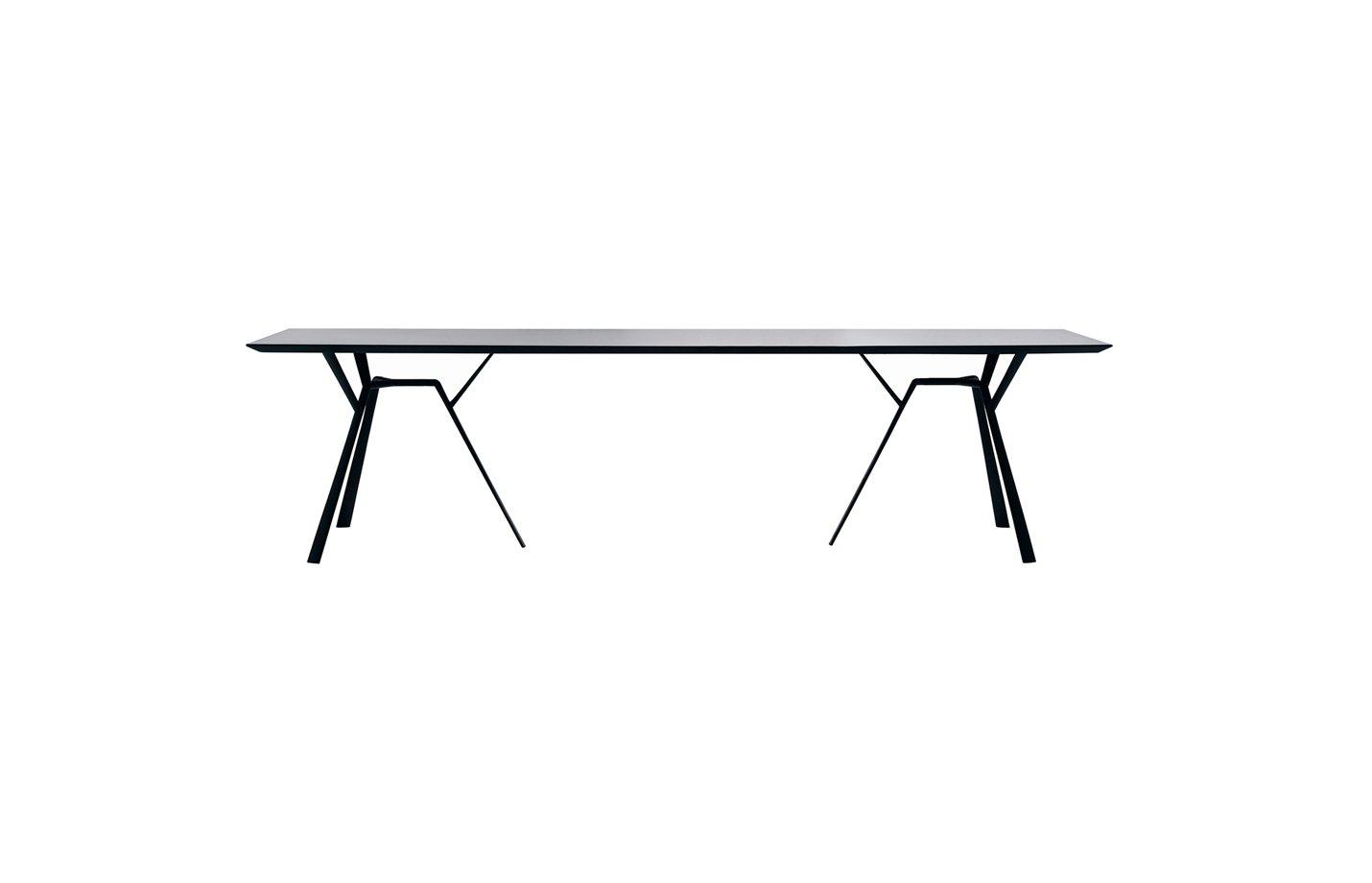 RADICE QUADRA Rectangle table – large – black
