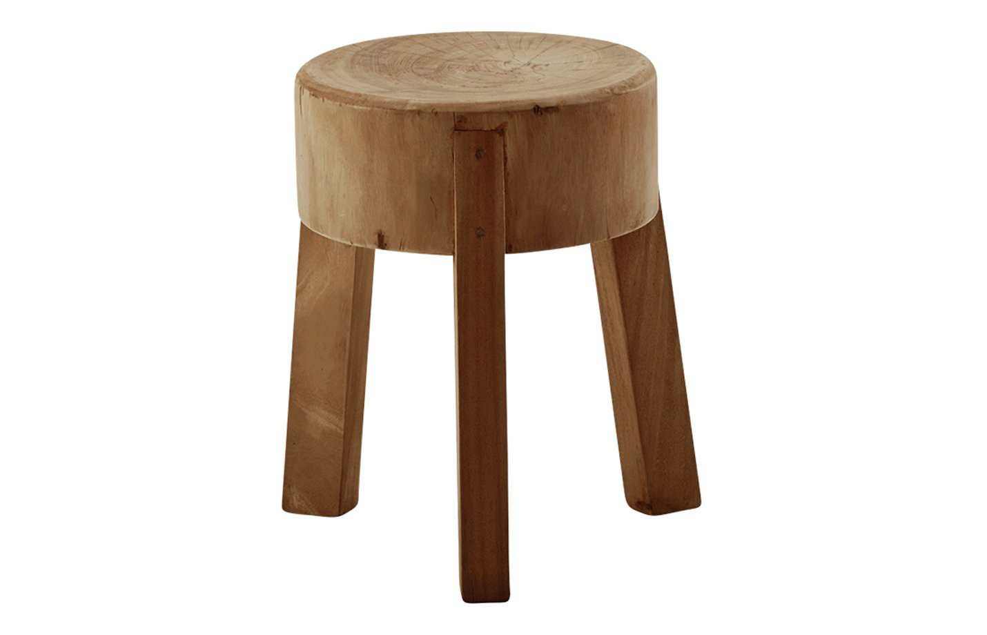 Roger footstool – teak – Brown