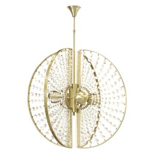 Roxy chandelier light - Brass