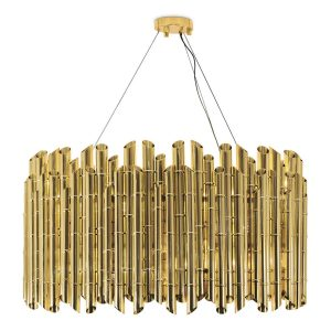 Saki chandelier light - brass