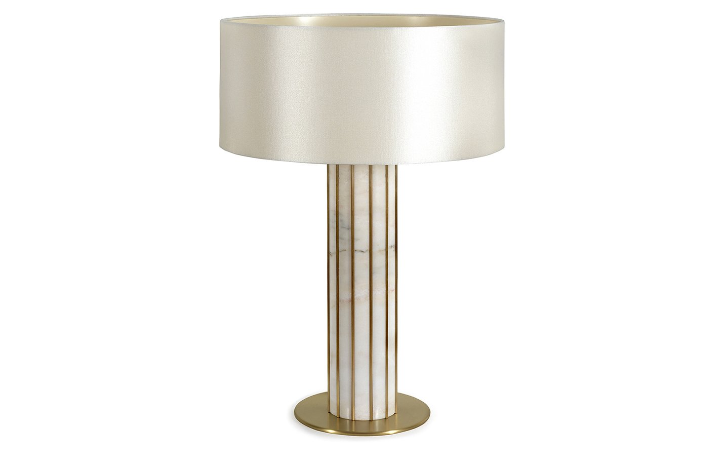 Seagram table lamp white – pearl