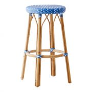 Simone-bar-stool-aqua-white-dot