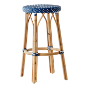 Simone-bar-stool-navy-white-dot