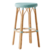 Simone-bar-stool-salvie-green-white-dot