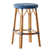 Simone-counter-stool-Navy-blue-White-dot
