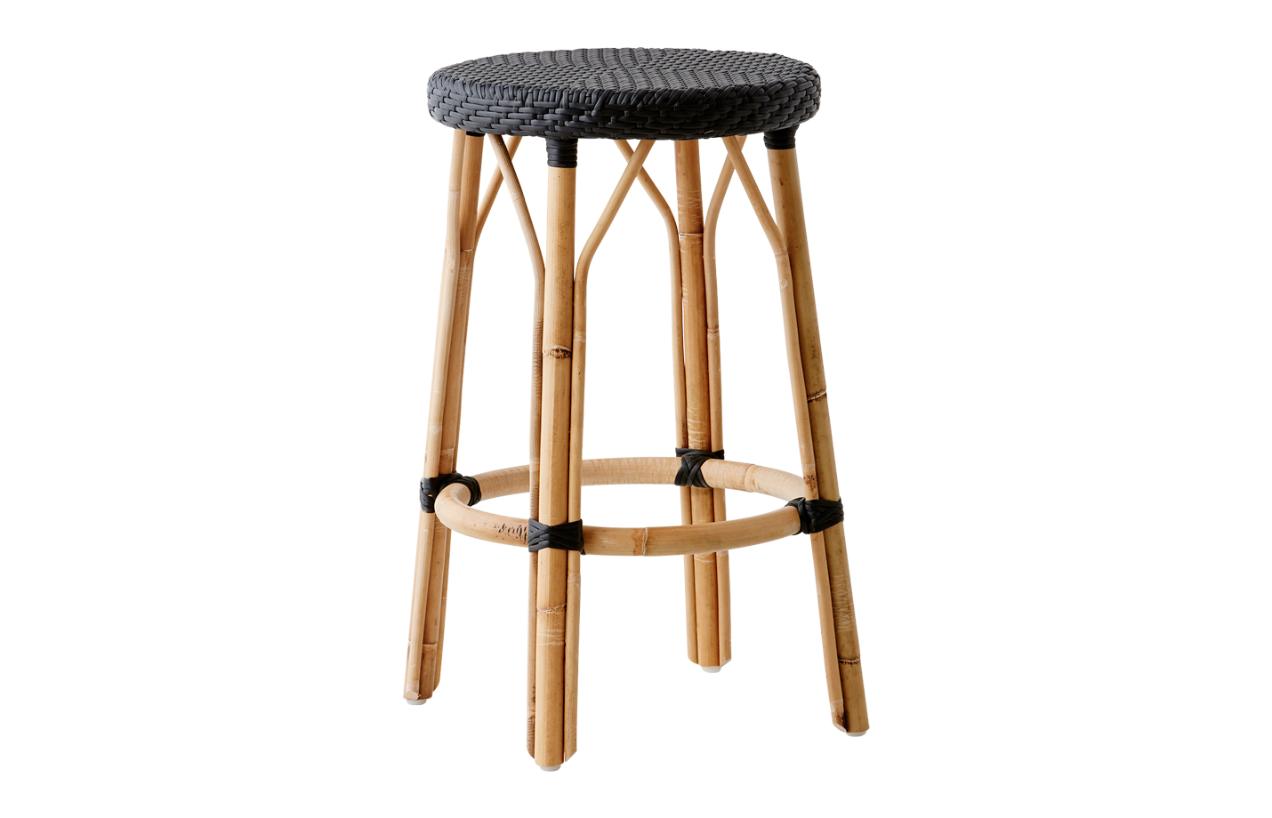 Simone Stool Black – Black dot