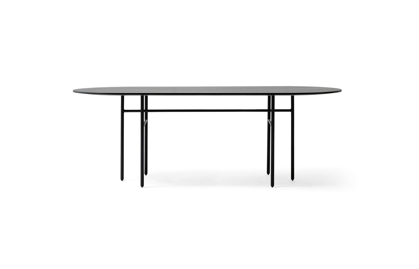 Snaregade table – oval – large – black