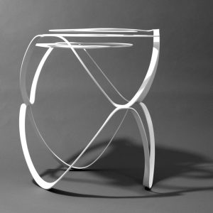 Splice side table - white