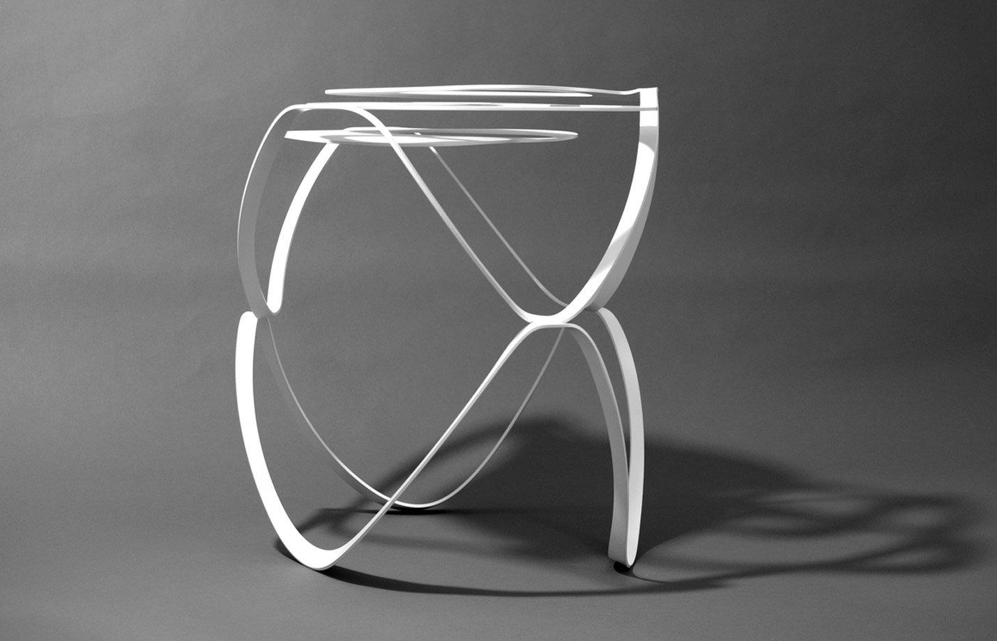 Splice side table – white