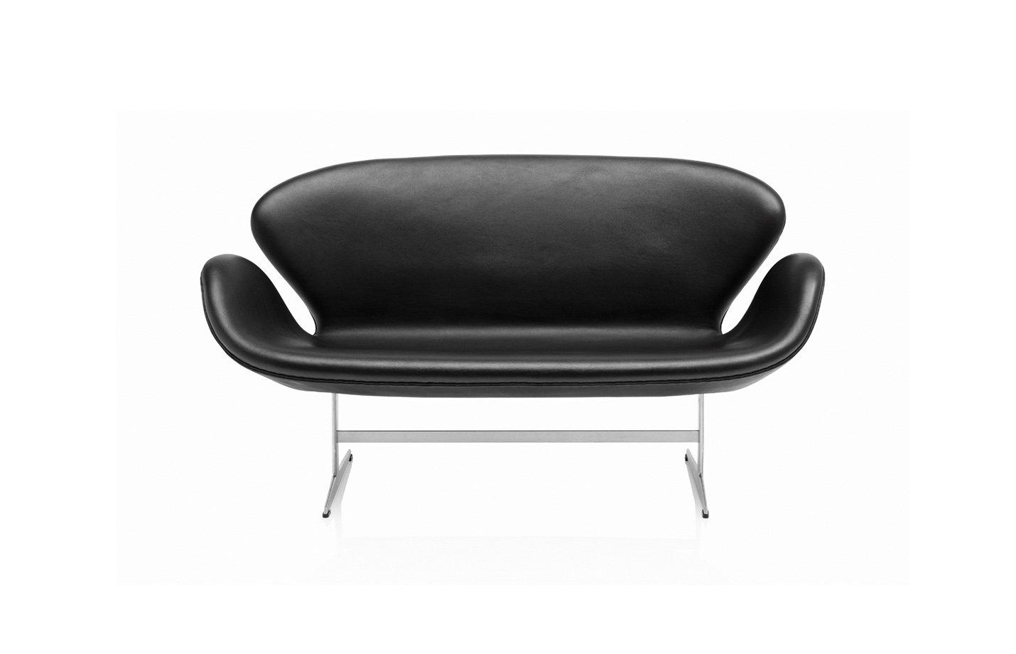 Swan sofa two seater – black