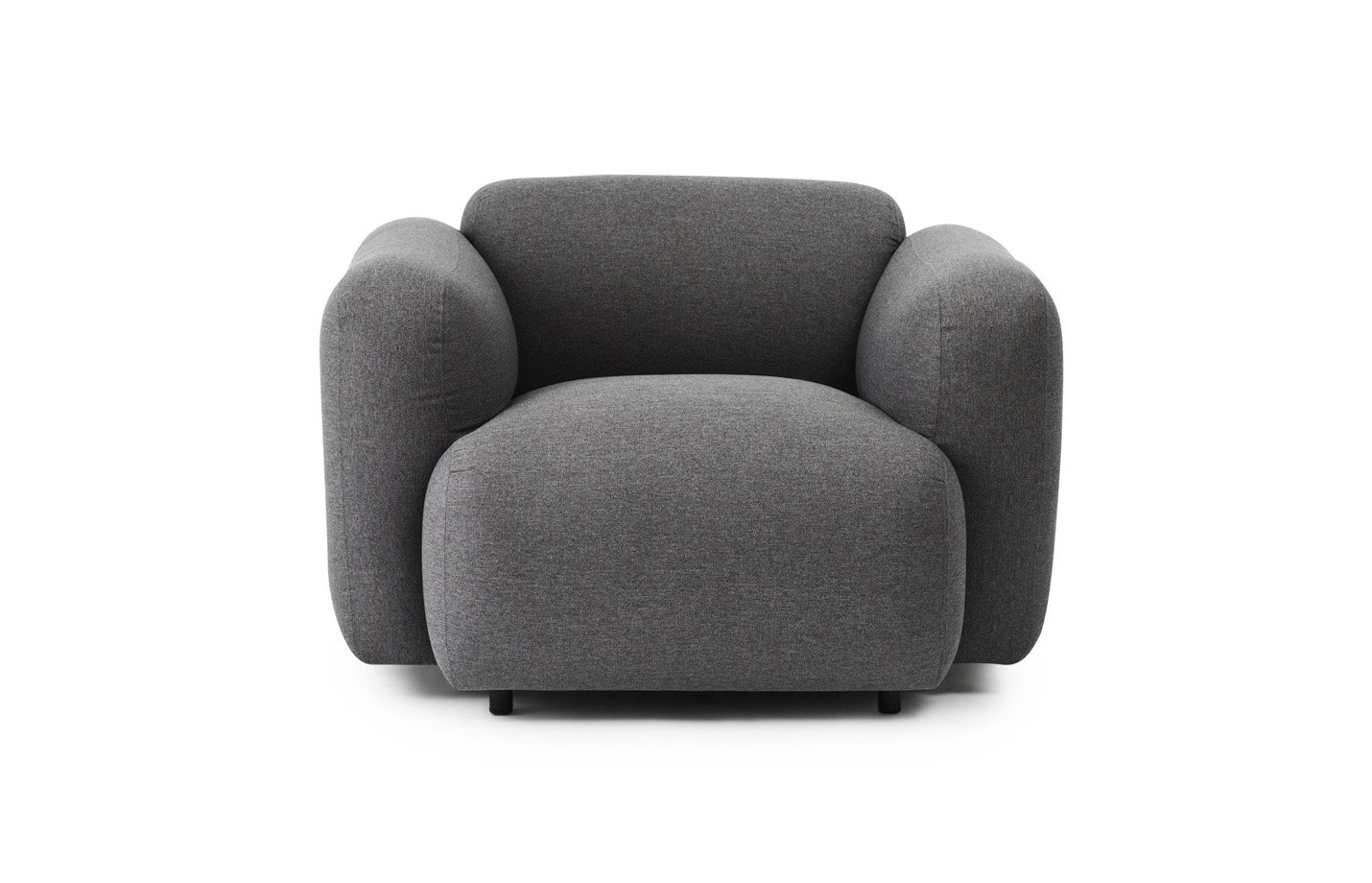 Swell armchair – medley – grey